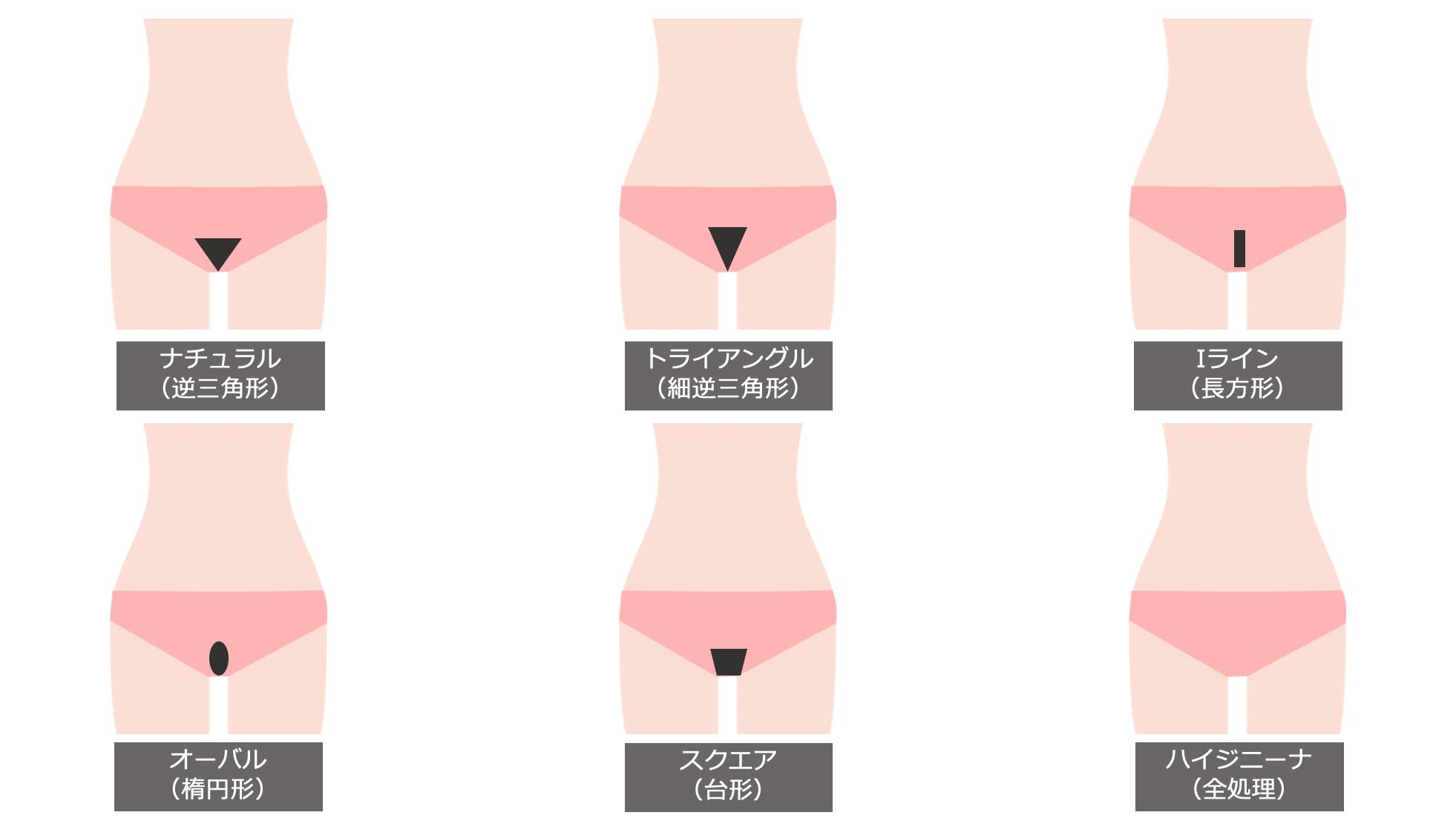 ビキニラインのデザイン